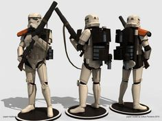 Star Wars - Sandtrooper Paper Model In 1/6 Scale - by Paper Replika - == -  From Star Wars universe, here is the Sandtrooper, in a cool 1/6 scale paper model version created by Indonesian designer Julius Perdana, from Paper Replika website.
