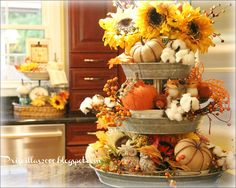 September Decorating Ideas fall tiered tray | fall decorating | pinterest | trays, fall decor