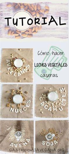 Tutorial: cómo hacer leches vegetales caseras (con cuadro de las horas de remojo por ingrediente)