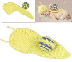 Yellow Snail Baby Photography Prop Newborn Infant