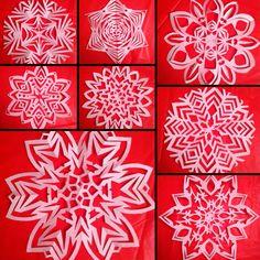 Paper snowflake Christmas craft