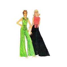Vintage 70s Sewing Pattern Misses Wrap Blouse by retromonkeys, $13.00