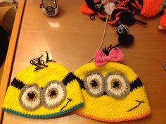Minion inspired hats