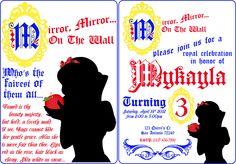 Snow White birthday party Invitation