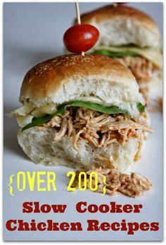 Over 200 Crockpot Chicken Recipes #easydinner #crockpot #slowcooker