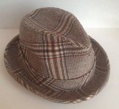 e3ad44b59ce Dobbs Hat Vintage Fedora Size 6 7 8 Tan Plaid