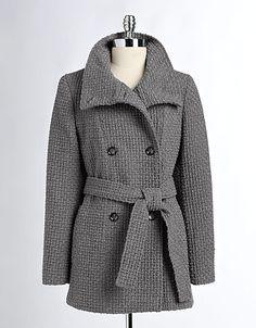 Woolen Funnel Neck Coat