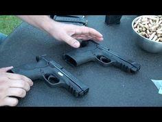 Como Calibrar el Rayo Laser en las Pistolas, Smith & Wesson M&P, calibre 45 y 9 mm, en Español - YouTube