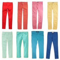 Trendtotting: Colorful Jeans For Girls - www.lilsugar.com
