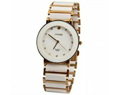$7.65 Longbo Quartz Watch with Diamond Dots Indicate Steel and Plastic Watchband for Women