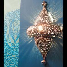 Geslepen metalen ESSAOUIRA wandlamp ...