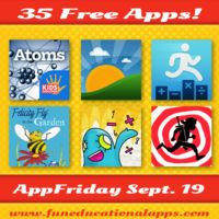 Free APPFRIDAY is on with 35 great apps for kids. Don't miss our TOP 3 with a brand new top science and discovery app - Atoms by DISCOVER KIDSIDS; A cool app to help parents with morning routine - Morning Activities and a kid Bundle from the App Store - Quick Math Pack! But don't stop here …  we have more! #kidsapps #free #appfriday #edapps Read more: http://www.funeducationalapps.com/2014/09/35-best-apps-for-kids-and-education-free-for-app-friday-september-19.html