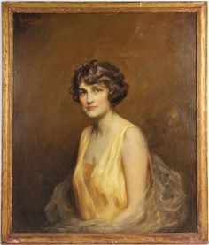 """Portrait of Francine Clark by Roland Hinton Perry (American, 1870-1941)  