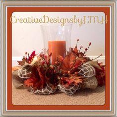 Fall Deco Mesh, Deco Mesh Wreaths, Table Decorations, Home Decor, Decoration Home, Room Decor, Home Interior Design, Dinner Table Decorations, Home Decoration