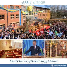 Today we celebrate the anniversary of the first Ideal Church of Scientology Malmo in Sweden, originally dedicated on this day in 2009, in the knowledge center of northern Europe.