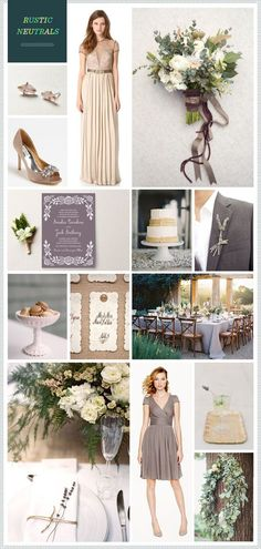REVEL: Rustic Neutrals Wedding Inspiration: