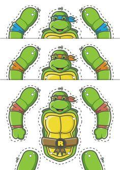 Skaffa dig dina egna Teenage mutant ninja turtles helt gratis bara ladda ner, klipp ut och sätt ihop!
