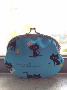 Free Shipping - Handmade Coin Purse Little Black Cats on Etsy, $159.24 HKD