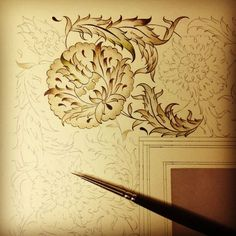Dilara Yarci Arabesque, Illumination Art, Islamic Patterns, Islamic Paintings, Turkish Art, Ink Illustrations, Letter Art, Calligraphy Art, Illuminated Manuscript