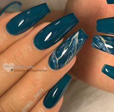 50 Gorgeous Matte Water Marbel Nails Design On Coffin Nails & Stiletto Nails - P. - 50 Gorgeous Matte Water Marbel Nails Design On Coffin Nails & Stiletto Nails – P… - Teal Nails, Matte Nails, My Nails, Dark Nails, Dark Color Nails, Neutral Nails, Nagellack Design, Marble Nail Designs, Teal Nail Designs