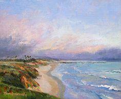 Central Coast by Nancy Romanovsky Oil ~ 10 x 12