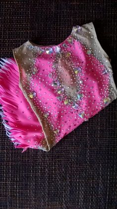 Made To Measure Rhythmic Gymnastic Leotard Pink Combine Your Colors crystals Ss16, Kids Dance Wear, Ice Skating Dresses, Rhythmic Gymnastics Leotards, Diy For Girls, Absolutely Stunning, Custom Made, Tie Dye, Costumes