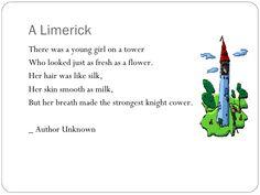Can you find examples of figurative language in these poems? Figurative Language in Poetry Limerick Examples, Limerick Funny, Limerick For Kids, Limerick Poetry, Poetry Examples, Poems In English, English Grammar, Irish Jokes, Poetry Activities