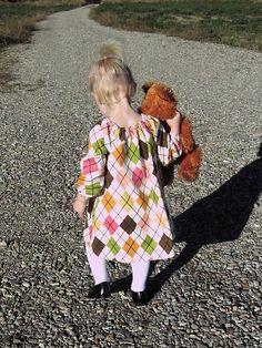 long sleeve peasant dress tutorial (size 2T) Cut hthe arms longer than pattern since they seem to be short on the girl, can always shorten with hemming if too long