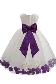 2015 Cute Purple Detail Flower Girl Dresses Am224