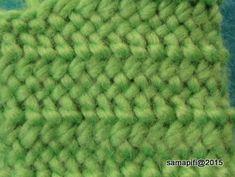 suomeksi 3+1 muunnos, Nemi's Back Weave, Finnish Stitch 3+1 variant, UUUO/UUOUO F1 - reverse side