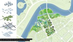 HAO (Holm Architecture Office) in Collaboration with AI (Archiland International) wins Prize, Eco City Masterplan Competition, Binhai, China. Project Presentation, Presentation Layout, Eco City, Site Plans, Landscaping Software, Architecture Office, Master Plan, Urban Planning, Sustainable Design
