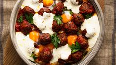 Maltese Pork Sausage meatballs with tomato, raisins, cumin and eggs. Just put the pot in the middle of the table and let the family dig in. Egg Recipes, Pork Recipes, Cooking Recipes, Sausage Meatballs, Meal Planner, Meals For The Week, Main Meals, Food Processor Recipes, Maltese