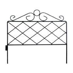 Origin Point 060064 Azalea Classic Decorative Steel Landscape Border Fence Section by Origin Point. $12.28. Each piece links together easily. Made of coated heavy duty steel. Azalea classic border fences. Accent border with classic rod iron design to fit any decor. Measures 16-inch by 18-inch. The beautiful azela classics decorative and accent border fences are made of classic rod iron design to fit any decor. Each piece links together easily and is constructed of c...