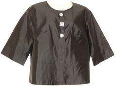 Talbots Silk Evening Black Jacket