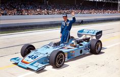 Indy 500 winner 1975: Bobby Unser  Starting Position: 3  Race Time: 2:54:55.080  Chassis/engine: Racers Eagle/Offy