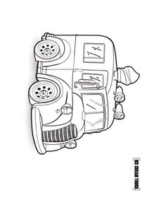 Coloring Pages For Kids Books Truck