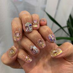 Dope Nails, Fun Nails, Korean Nails, Nail Art Pictures, New Nail Designs, Long Acrylic Nails, Nail Accessories, Stylish Nails, Gorgeous Nails