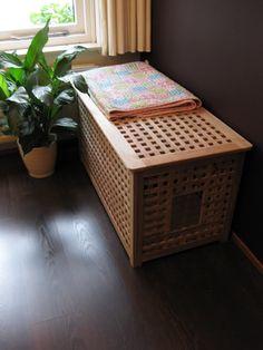Ombouw voor kattenbak met Ikea 'HOL' kist