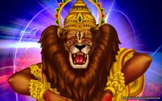 To view Narasimha Deva wallpapers in difference sizes visit - http://harekrishnawallpapers.com/sri-narasimha-deva-artist-wallpaper-003/
