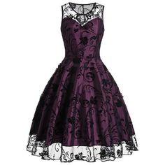 Women's A-Line sleeveless Vintage Dresses