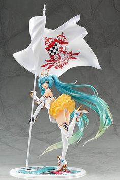 The 2015 design of Racing Miku, the official character of the Hatsune Miku GT Project, is being made into a 1/8th scale figure!The figure's design is based on T