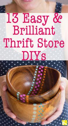 13 Easy & Brilliant Thrift Store DIYs