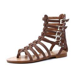 5ac765a8a England Style Women Roman Buckle Summer Flip Flops Gladiator Sandals