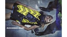 The models play survival of the stylish in Alexander Wang's Fall 2014 campaign. See more stellar ad campaigns from Fall 2014 here!