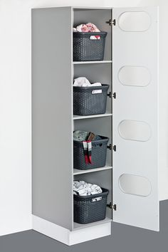 Utility room – Showcase Kitchens Brighton & Hove, - Top Of The World Laundry Room Organization, Laundry Room Design, Ironing Board Storage, Laundry Sorting, Larder Unit, Laundry Room Inspiration, Room Closet, Small Storage, Small Spaces
