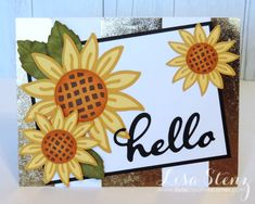 CTMH Cricut Flower Market, sunflower card