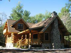 The Sleeping Bear Log Home. Kit with pricing