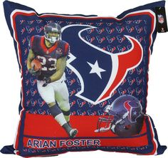 Houston Texans Arian Foster Toss Pillow. I want a JJ Watt one