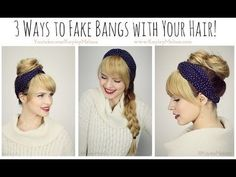 Fake Bangs Hairstyle Extraordinary How To Create Faux Bangs With Only Two Bobbypins Videoloepsie