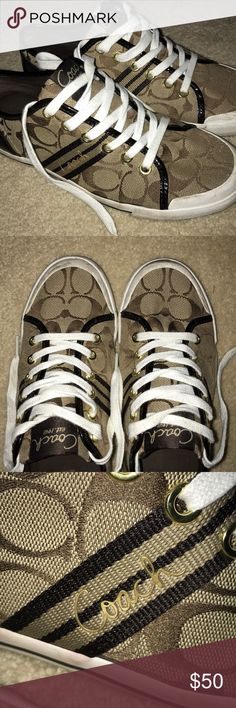 Coach Sneakers Barely warn, very stylish and cute! Coach Shoes Sneakers